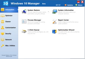 Windows 10 Manager 3.1.0 Crack With Keygen Latest Version [2019]